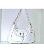 WILSONS White Leather Shoulder Bag Handbag Purse - $58.00