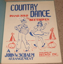 Country Dance Sheet Music Piano Solo by Beethoven - $8.75