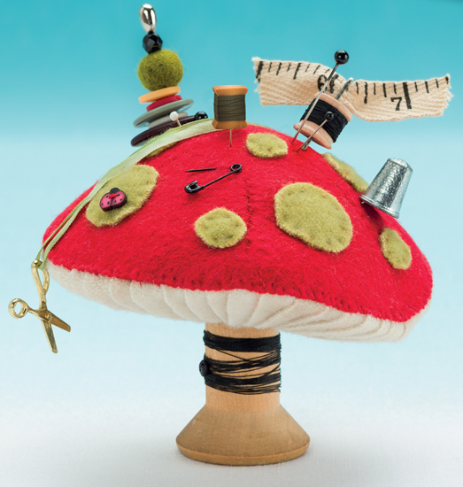 Measuring Mushroom  Kit (E702) Pincushion Appeal Emb pack Just Another Button