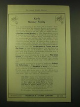 1918 Frederick A. Stokes Company Ad - Early Holiday Buying - $14.99