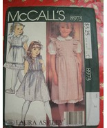 McCalls 8973 Laura Ashley Girls Jumper/Blouse/Petticoat Sz  - $6.99