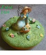 Blue Russ Garden Gardener Fairy Angel Jar Candle Topper  - $3.99