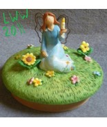 Blue Russ Garden Candle Fairy Angel Jar Candle Topper  - $3.99