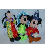 1/2 off! Three Disney Dolls Tinkerbell Minnie, Sorcerer Mickey, Clown Goofy - $5.00