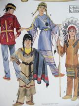 Simplicity 5448 Child Reenactment Native American Dress Historical Pattern - $9.95