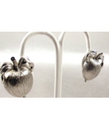 Vintage Sarah Coventry Adam's Delight Clip On Earrings Silvertone - $15.00