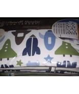 Boys Baby Bedding Dwell Studio Space Rocket Ship Crib Set 3pc Nursery - $115.00