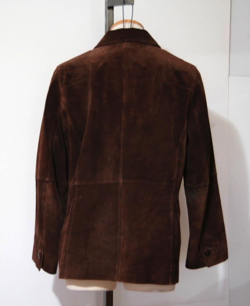 Suede leather jacket women
