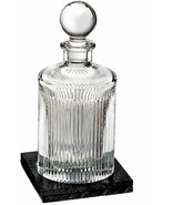 Waterford Aras Decanter Round 32 Oz Marble Base Coaster # 40031006 New box scuff - $273.49