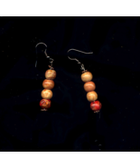 Vintage Prayer Bead blessed Earrings - $3.88