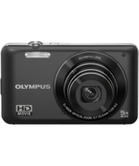 Olympus V Series VG-120 14 MP HD Digital Camera Black 5X Wide-Angle Opti... - $94.99