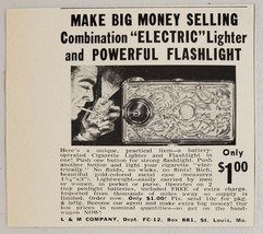 1960 Print Ad Novelty Combo Electric Lighters & Flashlight L&M Co. St Louis,MO - $8.00