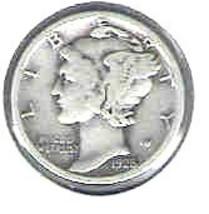 Nice 1928 S Mercury dime - $4.00