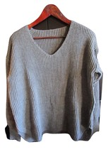 Women's Grey V-Neck Sweater, Size XL--FREE Priority Shipping! - $26.00
