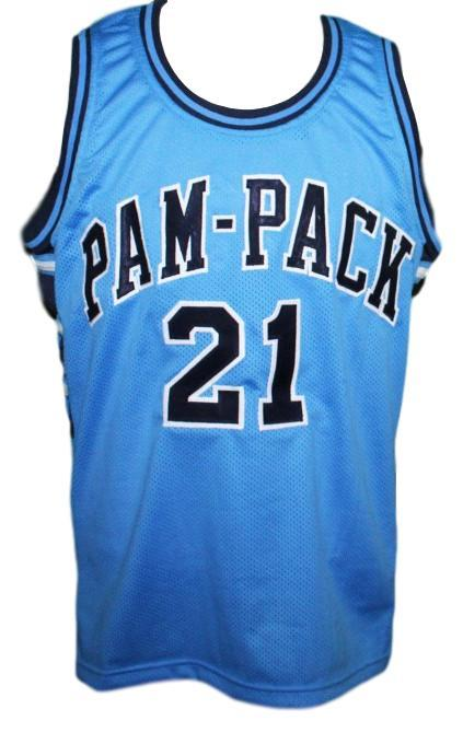 Dominique wilkins  21 pam pack high school basketball jersey light blue   1