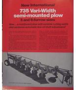 1978 International 735 Moldboard Plow Brochure - $8.00