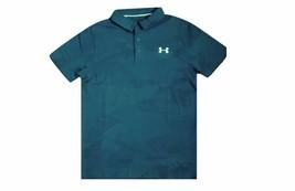 Under Armour Boys HeatGear Camo Print Polo Shirts Teal Vide L 1330511-417 - $34.99