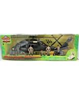 Black Hawk Helicopter 1:18 Scale Action Figure & Motorcycle Elite Operat... - $107.91