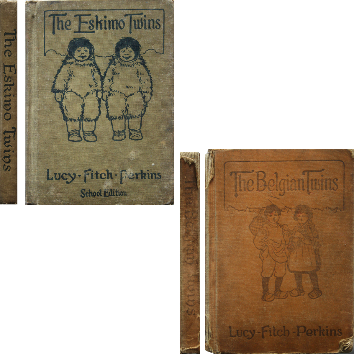 Primary image for 1914 & 1917 Lucy Fitch Perkins -  Belgian & Eskimo Twins 2 B