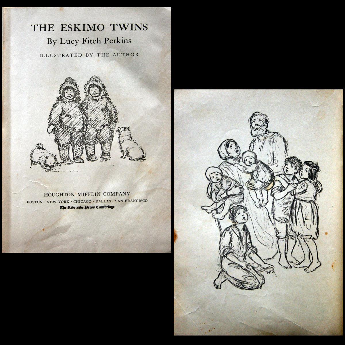 1914 & 1917 Lucy Fitch Perkins -  Belgian & Eskimo Twins 2 B