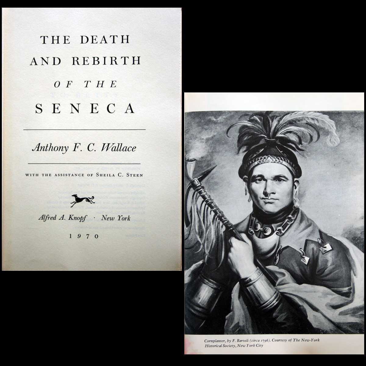 1970 Death & Rebirth of Seneca Indians 1st HC/DJ ILLUSTRATED