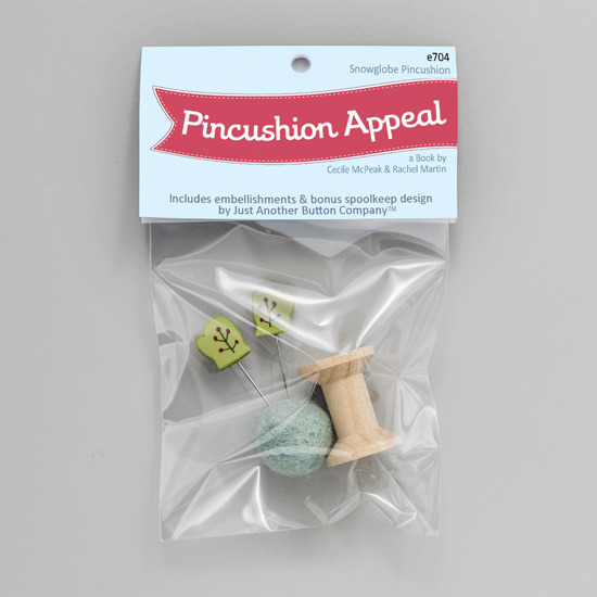 Snow Globe  Kit (E704) Pincushion Appeal Embellishment pack Just Another Button