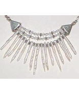 Pearl Sticks, Swarovski Crystal and Sterling Silver Necklace Bridal Wedding - $46.99