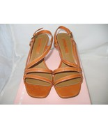 NWB Bandolino Med Orange Leather Sandals Size 7 - $35.00