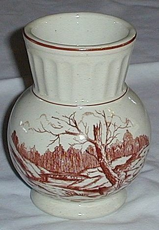 Pretty Ionic Co Ceramic Vase Bridge Scene