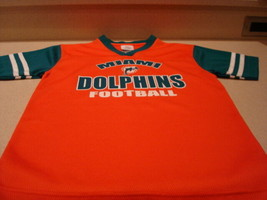 NFL Team Apparel Miami Dolphins Football Jersey Orange & Green Sz. L 10-12 - $8.99