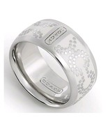 NWT COACH NEW OP ART DOT RING WHITE BAND 95144 ... - $66.99
