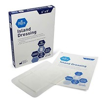 "Medpride 6"" x 8"" Bordered Gauze-Island Dressing| 10 Pack-Individually Packed Pou"