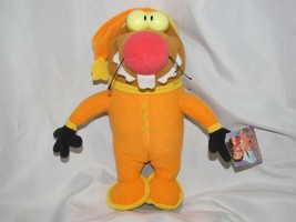 "1997 Angry Beavers Slumber Party Plush Dolls Daggett 12"" Mattel Orange Pajamas - $32.66"