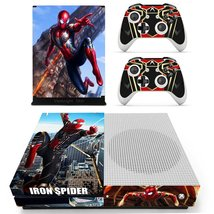 Iron Spider Man Avengers Marvel Xbox One S Slim Console Vinyl Skin Decal... - $9.90