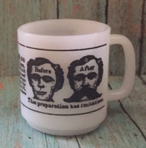 Vintage Dyke's Beard Elixir Milk Glass Mug Coffee Cup Advertisement Hair... - $29.69