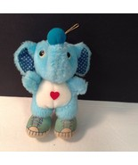 "Acme Blue Plush Elephant 6.75"" Tall Vintage Stuffed Animal Toy - $14.17"