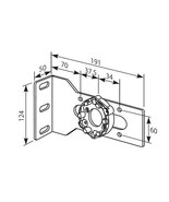 Somfy Heavy Duty Angle Plate with Univ. Motor Bracket (max. 85 Nm) - $20.39