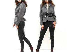 Vintage Tailored Tweed Blazer / Women Peplum Belted Jacket / Office Wear... - $36.47