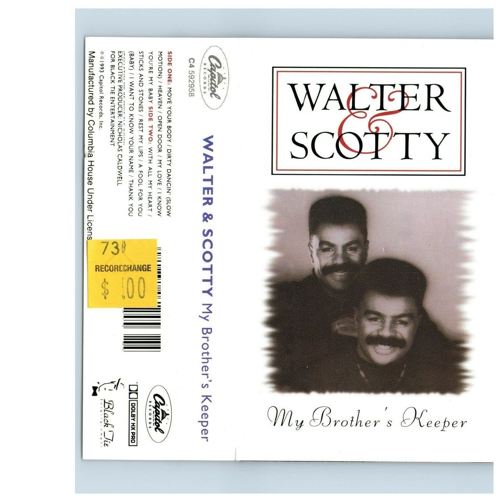 My Brother's Keeper By Walter & Scotty (Cassette, May-1993, Noir Attache)