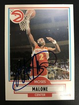 Moses Malone (d. 2015) Signed Autographed 1990 Fleer Basketball Card - A... - $29.99