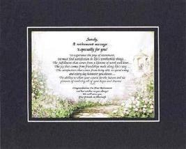 [Personalized Poem for Retirement] A Retirement Message Especially For You .Poem - $22.72