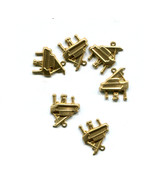 piano charms musical instruments metal music charms gold brass 13mm x 15... - $2.40