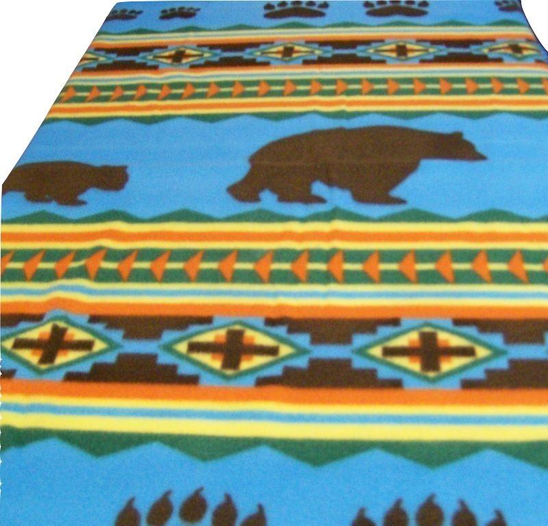 Soft Fleece Blanket, Bear Blanket, Aztec Blanket, Child, Teen, Baby
