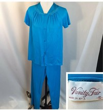 Vtg Vanity Fair 2pc Pajamas Blue Womens Small - $28.71