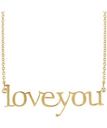 """""""Love You"""" Necklace in 14K Yellow, White or Rose Gold - $260.99"""
