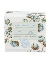 CST Egyptian Cotton Three Scented Triple Milled Bar Soaps, 3 X 4 oz Each - $12.00