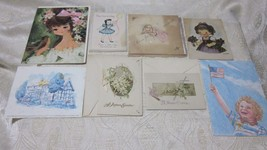 8 PC LOT VINTAGE GREETING CARDS EASTER BABY1946 BY EVA HARTA DAVID LAMOTT - $8.99