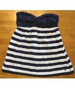 Abercrombie New York Blue & White Striped Girls Tube Top Shirt - Size: XL - $14.84