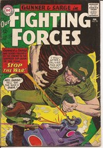 DC Our Fighting Forces #90 Gunner & Sarge Stop The War Battlefield Action - $4.95