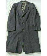 di Benedetto Cashmere Wool Overcoat Made in Italy Charcoal Gray Mens 42R... - $72.43